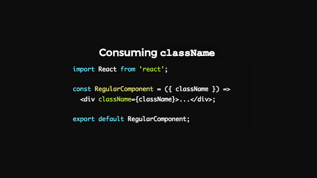 using class-name